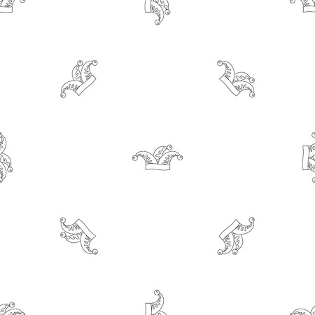 Jester icon. Outline illustration of jester vector icon for web design isolated on white background