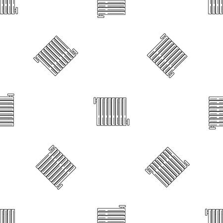 Radiator icon. Outline illustration of radiator vector icon for web design isolated on white background