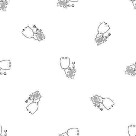 Stethoscope, medical icon. Outline illustration of stethoscope, medical vector icon for web design isolated on white background