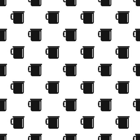 Camp cup pattern seamless vector repeat geometric for any web design