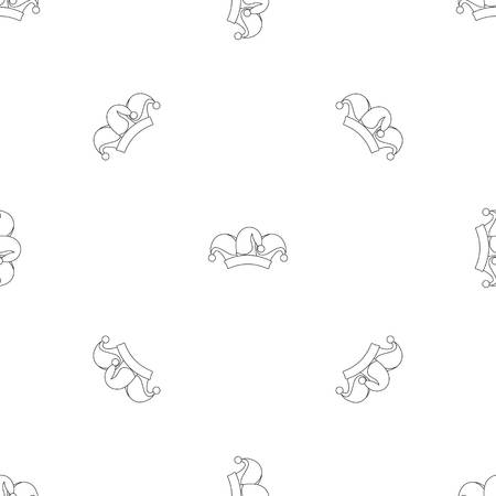 Clown job jester icon. Outline illustration of clown job jester vector icon for web design isolated on white background