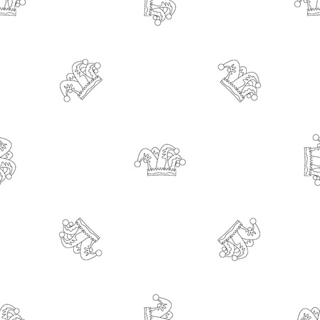 Royal jester hat icon. Outline illustration of royal jester hat vector icon for web design isolated on white background Ilustrace