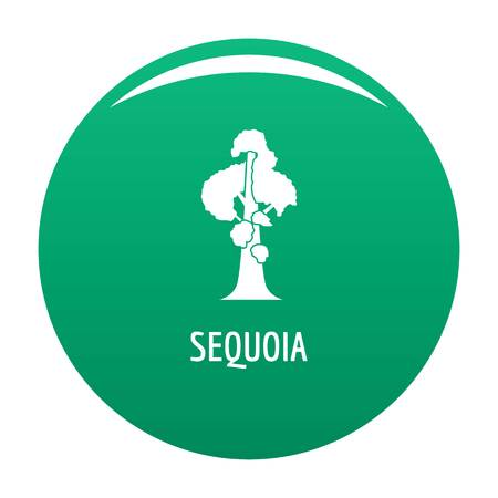 Sequoia icon vector green