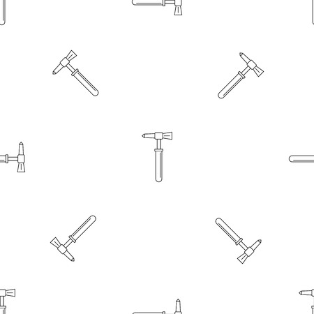 Hammer tool icon. Outline illustration of hammer tool vector icon for web design isolated on white background Illustration