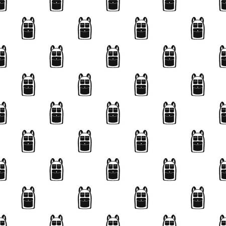Camp backpack pattern seamless vector repeat geometric for any web design