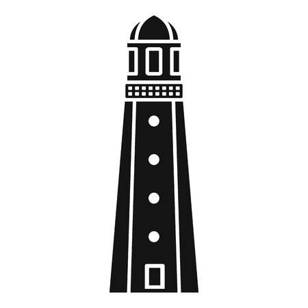 Harbor lighthouse icon. Simple illustration of harbor lighthouse vector icon for web design isolated on white background