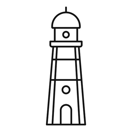 Guide lighthouse icon. Outline guide lighthouse vector icon for web design isolated on white background