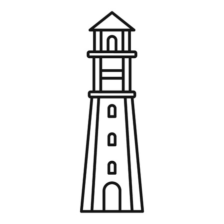 Radar lighthouse icon. Outline radar lighthouse vector icon for web design isolated on white background Çizim