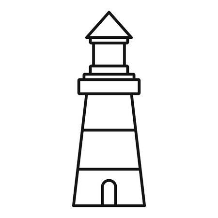 Lighthouse building icon. Outline lighthouse building vector icon for web design isolated on white background
