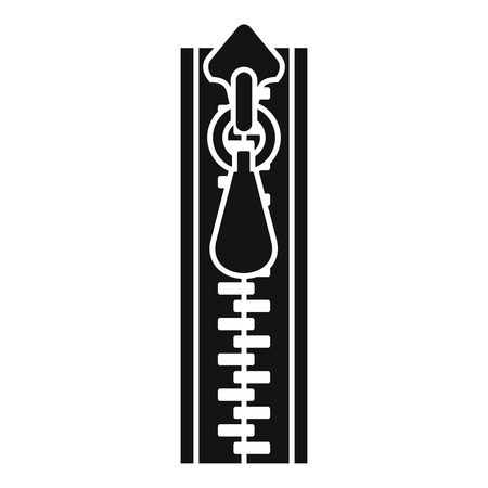 Sweatshirt zipper icon. Simple illustration of sweatshirt zipper vector icon for web design isolated on white background