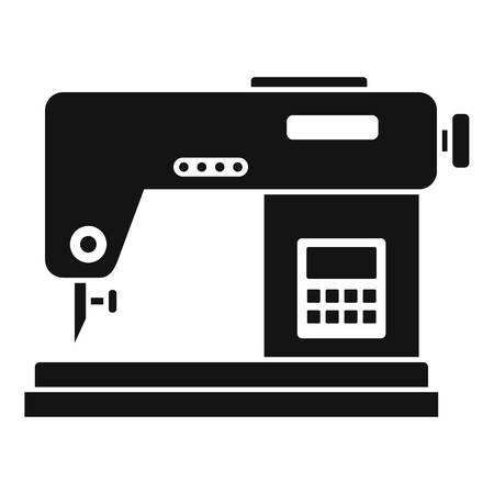 Digital sew machine icon. Simple illustration of digital sew machine vector icon for web design isolated on white background
