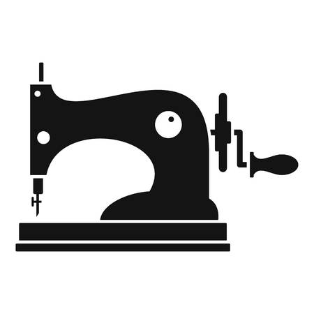 Manual sew machine icon. Simple illustration of manual sew machine vector icon for web design isolated on white background