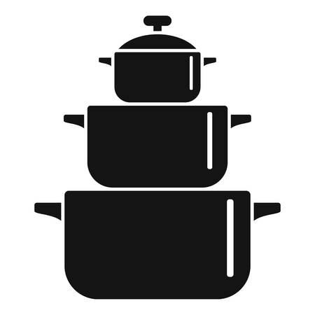Cooking pan icon. Simple illustration of cooking pan vector icon for web design isolated on white background