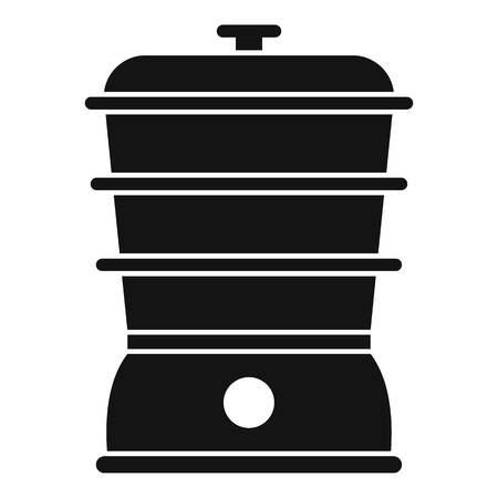 Steamer icon. Simple illustration of steamer vector icon for web design isolated on white background