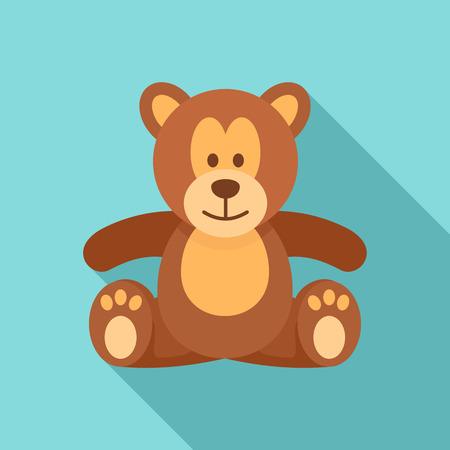 Teddy bear icon. Flat illustration of teddy bear vector icon for web design Illustration