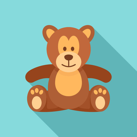 Teddy bear icon. Flat illustration of teddy bear vector icon for web design  イラスト・ベクター素材