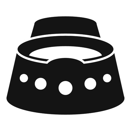 Baby potty icon, simple style in black and white