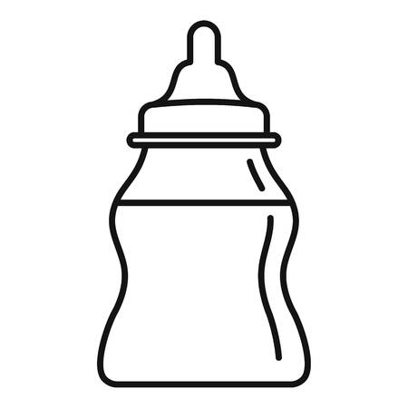Baby milk bottle icon, outline style