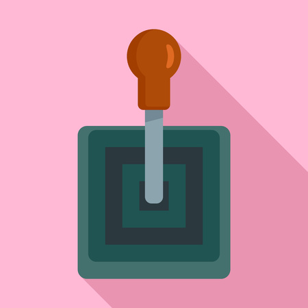 Old gearbox icon. Flat illustration of old gearbox vector icon for web design Illustration