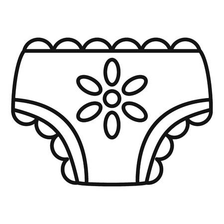 Baby girl nappy icon, outline style