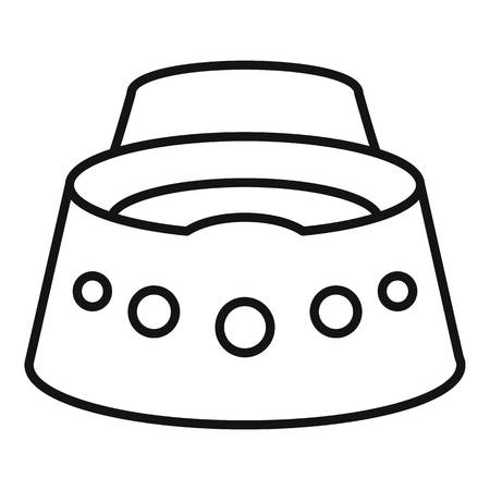 Baby potty icon, outline style Illustration