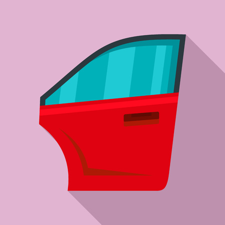 Car door icon, flat style