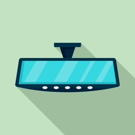 Car back mirror icon. Flat illustration of car back mirror vector icon for web design 向量圖像