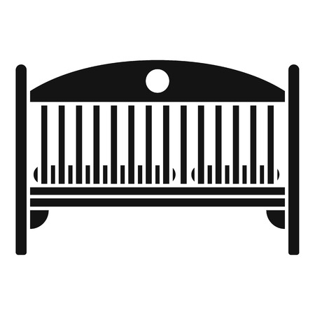 Baby crib icon. Simple illustration of baby crib vector icon for web design isolated on white background