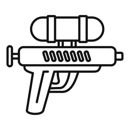 Icona della pistola ad acqua. Delineare la pistola ad acqua icona vettoriali per il web design isolato su sfondo bianco