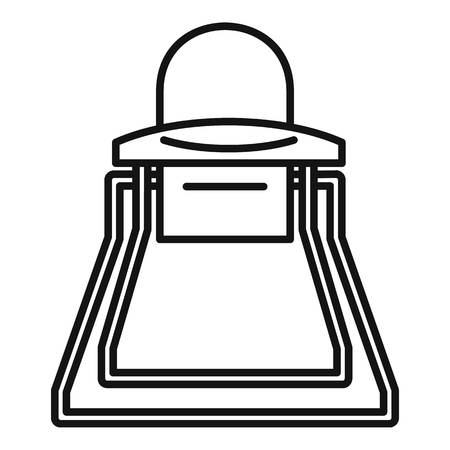 Baby high chair icon, outline style Illustration