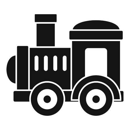 Toy train icon. Simple illustration of toy train vector icon for web design isolated on white background Vector Illustration