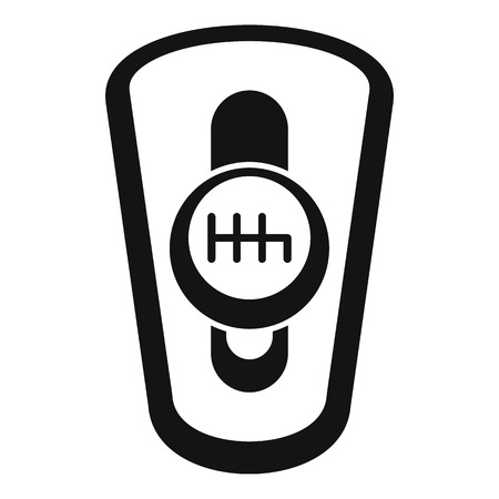 Car auto gearbox icon, simple style