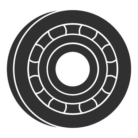Metal bearing icon, simple style Illustration