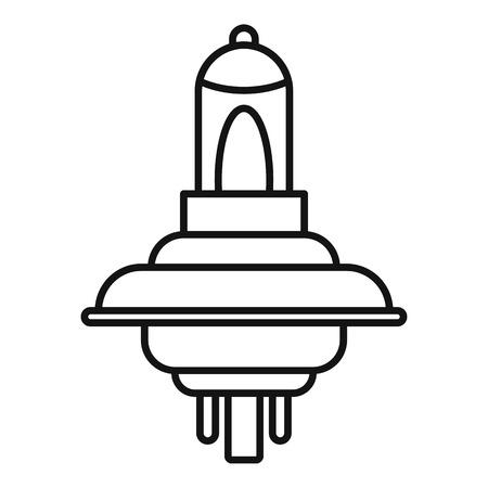 Car light bulb icon. Outline car light bulb vector icon for web design isolated on white background Vector Illustration