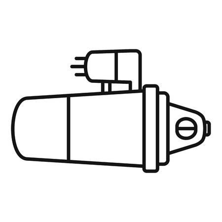 Car starter icon. Outline car starter vector icon for web design isolated on white background Vektorové ilustrace