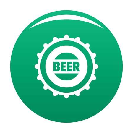 Beer cap icon vector green