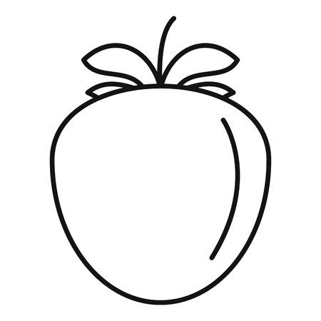 Eco persimmon icon, outline style 일러스트