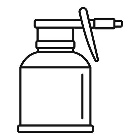 Car bottle spray icon, outline style