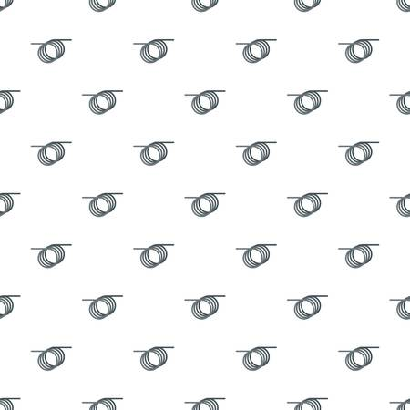 Spiral cable pattern seamless vector repeat for any web design Illustration