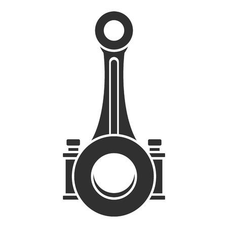 Icono del eje de la biela del pistón. Ilustración simple del eje de la biela del pistón icono vectoriales para diseño web aislado sobre fondo blanco.