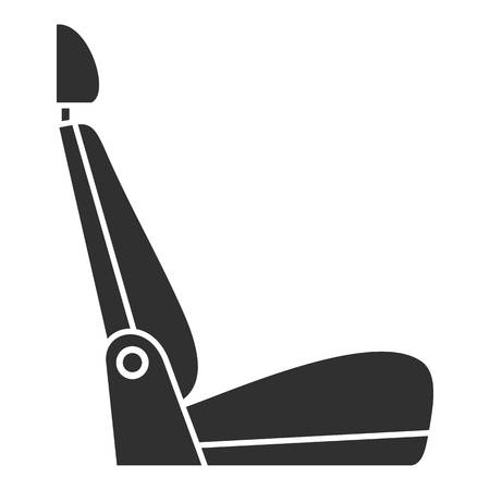 Car seat icon, simple style