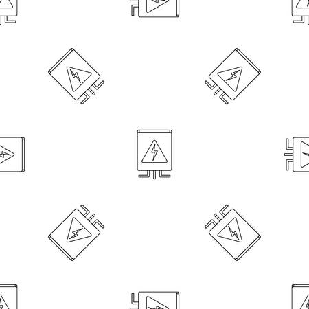 Electrical box icon. Outline illustration of electrical box vector icon for web design isolated on white background