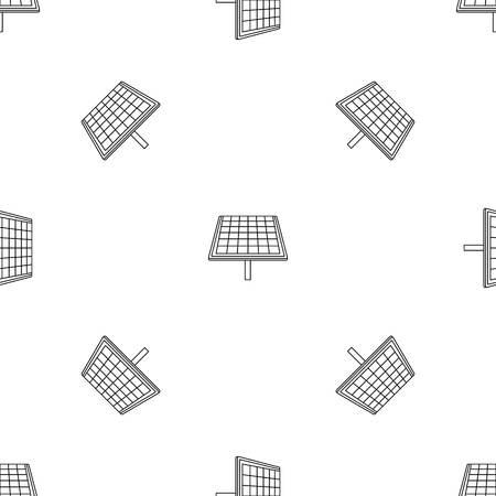 Solar brand panel icon. Outline illustration of solar brand panel vector icon for web design isolated on white background