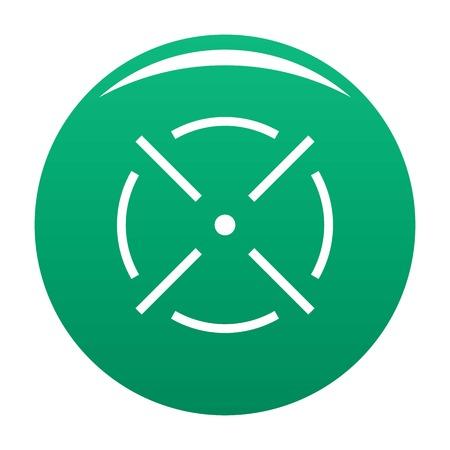 Close radar icon vector green