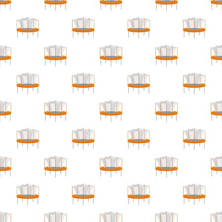 Kid trampoline pattern seamless vector repeat for any web design