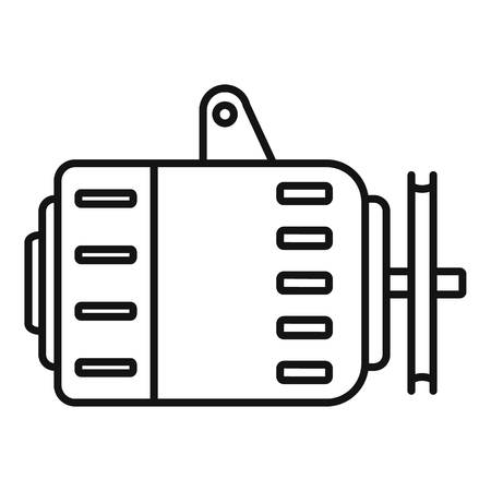 Icône d'alternateur de voiture, style de contour Vecteurs