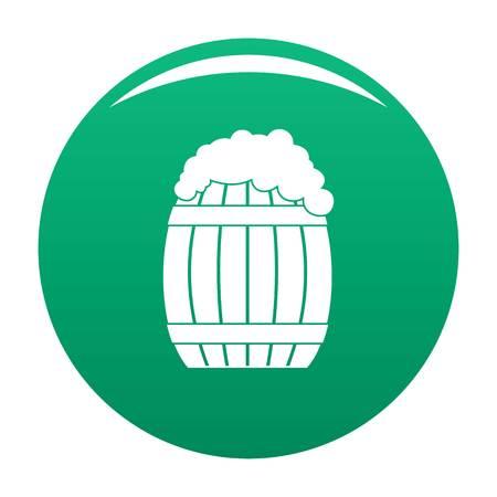 Full barrel icon vector green