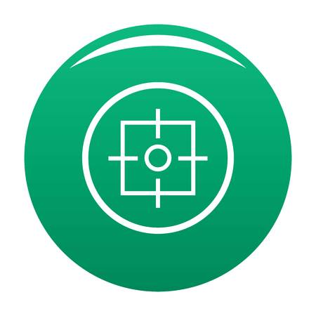 Target icon vector green