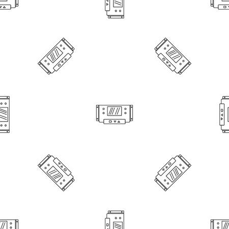 Digital panel icon. Outline illustration of digital panel vector icon for web design isolated on white background