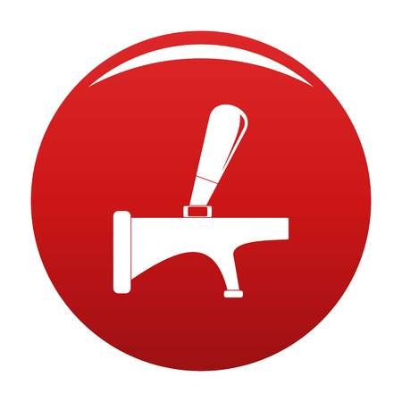 Tap icon. Simple illustration of tap vector icon for any design red
